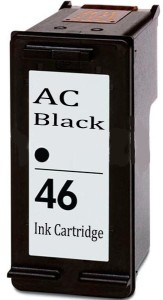 AC 46 Black ink cartridge HP Deskjet 2020hc. 2529. 4729. 2029 2520hc. Single Color Ink