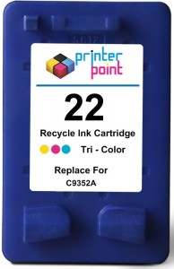 Max 22 Recycle Color Ink Cartridge For Hp Prefilled Single Color Ink
