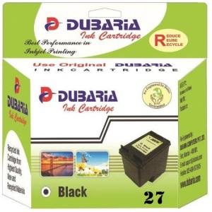 Dubaria 27 Black Ink Cartridge Compatible For HP 27 Black Ink Cartidge Single Color Ink