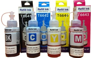 AC Epson Ink All Colors (T6641-B,T6642-C,T6643-M,T6644-Y) 70 Ml Each For L100/L110/L200/L210/L300/L350/L355/L550 Single Color Ink