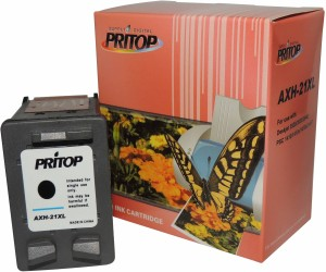 Pritop 21 XL Black inkjet Cartridges for HP Deskjet D1360, D1460, D1550, D1560, D2360, D2460, 3920, 3940 Printers; HP Deskjet F370, F380, F2120, F2179, F2180, F2235, F2275, F2276, F2280, F4185 All-in-Ones, HP PSC 1402, 1410 All-in-Ones and HP Officejet 4355 All-in-One Single Color Ink