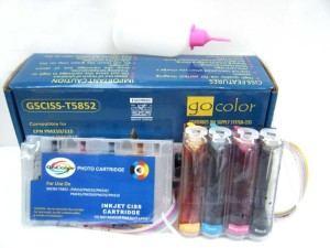 Gocolor Continuous Tank Supply System 5852 for Epson 210/215/270/310/235/245 Printer Multi Color Ink