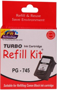Turbo Ink Refill Kit for Canon PG 745 cartridge Single Color Ink