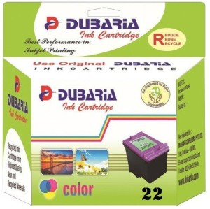 Dubaria 22 / C9352AA Cartridge - HP Compatible For Use In Deskjet D1360, D1460, D1550, D1560, D2360, D2460, 3920, 3940, F370, F380, F2120, F2179, F2180, F2235, F2275, F2276, F2280, F4185, 1402, 1410, 4355 Multi Color Ink