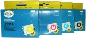 Gocolor Compatible Cartridges T1411-14 for All ME Series Printer ( One Time Use ) Multi Color Ink