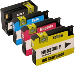 Dubaria 932 XL Black & 933 XL Cyan, Magenta & Yellow Ink Cartridge Combo For Use In HP OfficeJet 7612, 6700, 6100, 6600, 6700, 7610, 7110, 7510 Printers Multi Color Ink
