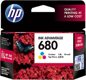 HP 680 Tri Color Ink Cartridge Magenta, Cyan, Yellow