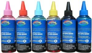 Gocolor Epson L800 & L Series Inkjet 100 ml (C,Y,M,K,LC,LM) Multi Color Ink