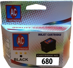 AC 680 Black ink cartridge compatible HP 2135, 3653, 3835, 4535. Single Color Ink