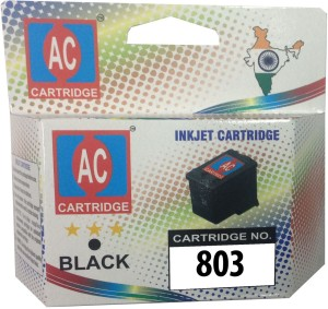 AC-Cartridge AC 803 Black Ink Cartridge HP Deskjet 1112/1112/1111/2131/2132 Printer Single Color Ink