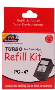 Turbo ink refill kit for Canon 47 black cartridge Single Color Ink