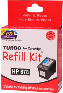 Turbo Ink Refill Kit For Hp 678 Cartridge Single Color Ink