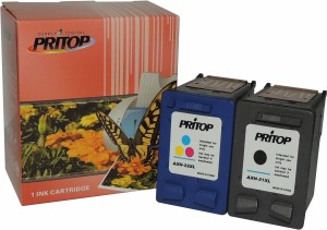 Pritop 21-22 XL Combo ink Cartridge (Black & Tri-color) for HP Deskjet D1360, D1460, D1550, D1560, D2360, D2460, 3920, 3940 Printers; HP Deskjet F370, F380, F2120, F2179, F2180, F2235, F2275, F2276, F2280, F4185 All-in-Ones, HP PSC 1402, 1410 All-in-Ones and HP Officejet 4355 All-in-One Multi Color Ink