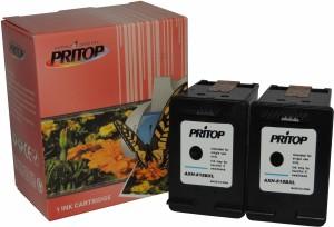 Pritop 818 XL Two Black Inkjet Cartridge for HP Deskjet D1668,HP Deskjet D2568,HP Deskjet D2668, HP Deskjet D5568, HP Deskjet F2418, HP Deskjet F2488, HP Deskjet F4288, HP Deskjet F4488, HP C4788 printer Single Color Ink