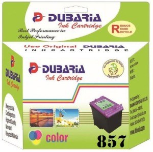 Dubaria 857 TriColor Ink Cartridge Compatible For HP 857 TriColor Ink Cartridge For Use In HP DeskJet 57407, 57482, 65482, 68482, 98082, 98607, 98684, HP Photosmart D51682, 3252, 3352, 3753, 3854, 4254, 4754, 80382, 81582, 84582, 87582, 25784, 26082 All-in-One HP PSC 16082, 23582 All-in-One Pro B8338, B87782 HP Officejet H470, H470b7, K7108, 62082, 72082, 74082 All-in-One Multi Color Ink