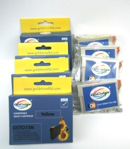 Gocolor Compatible Cartridge 73 N One Time use 4 Colors Multi Color Ink