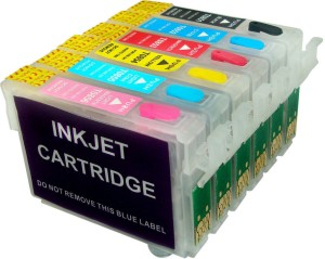 Dubaria Empty Refillable Cartridge For Epson Stylus T 60 Printers Compatible With Epson T0851N / 52N / 53N / 54N / 55N / 56N Multi Color Ink