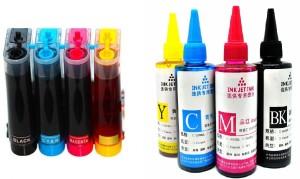 Flowjet pre filled ciss systems with extra ink bottles Multi Color Ink