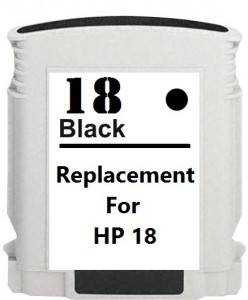 Dubaria 18 Black Ink Cartridge Compatible For HP 18 black Ink Cartridge Single Color Ink