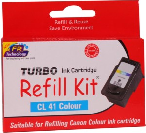 Turbo Ink Refill Kit for Canon CL 41 cartridge: Multi Color Ink