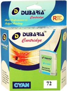 Dubaria Dubaria 72 Cyan Ink Cartridge 130 ML Compatible For HP 72 / C9371A Ink Cartridge For Use In HP DesignJet T610, T620, T770, T1100, T1200, T2300, T1120, T1300, T2300, T790 Printers Single Color Ink