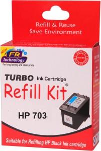 Turbo Ink Refill Kit for HP 703 Black cartridge Single Color Ink