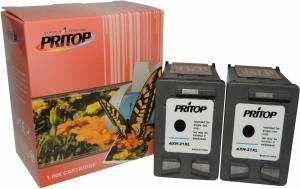 Pritop 21 XL Two Black inkjet Cartridge for HP Deskjet D1360, D1460, D1550, D1560, D2360, D2460, 3920, 3940 F370, F380, F2120, F2179, F2180, F2235, F2275, F2276, F2280, F4185, 1402, 1410, 4355 Single Color Ink