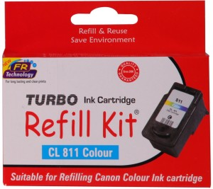 Turbo Ink Refill Kit for Canon Cl 811 Cartridge Multi Color Ink