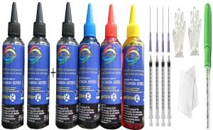 Gocolor Premium Korean Quality Canon Compatible Inkjet Refill Ink 100 ml X 4 Color + 2 Black Extra ( K/K/K/C/M/Y ) Multi Color Ink