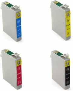 Dubaria 73N Compatible Ink Cartridges For Epson T0731N / 732N / 733N / 733N For Use In Epson Stylus Printers C110, C79, C90, C92, CX3900, CX4900, CX5500, CX5600, CX5900, CX6900F, CX7300, CX8300, CX9300F, T10, T11, T20, T30, TX100, TX110, TX121, TX200 , TX210, TX220, TX300F, TX400, TX510FN, TX550W, TX600FW - Combo Pack Multi Color Ink