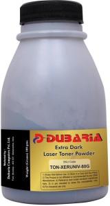 Dubaria Extra Dark Toner Powder Universal For Xerox 3117 / 3220 Toner Cartridges - 80 Grams Bottle Single Color Toner