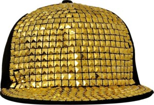 FAS Solid Gold Stud Hiphop and Snapback Cap
