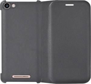 wholesale dealer 44d7e 01191 COVERNEW Flip Cover for Micromax Canvas Spark 2 Plus Q350Black, Flip Cover,  Artificial Leather, Plastic