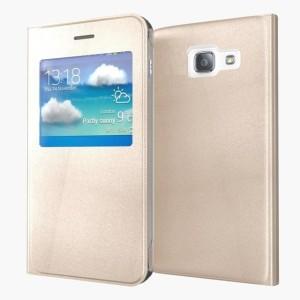 wholesale dealer b6449 2d7e3 Sprik Flip Cover for Samsung Galaxy A5 2017Gold, Flip Cover