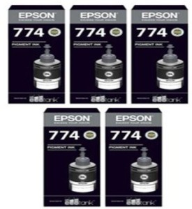 Epson Epson Ink T7741 Black Ink Pack of 5 For M100/200 Single Color Ink