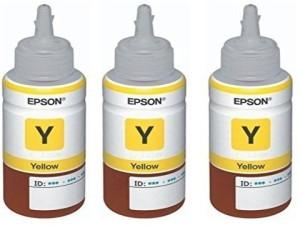 Epson Ink T6644 Black Ink Pack of 3 For L100/L110/L200/L210/L300/L350/L355/L550 Single Color Ink