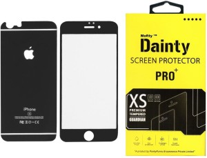 best cheap 554fb 811c7 Dainty Tempered Glass Guard for Apple Iphone 6s (4.7 inch, Matte Black)  (Front and Back)