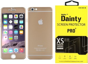 best authentic 4993b 0963f Dainty Tempered Glass Guard for Apple Iphone 6s (4.7 inch, Matte Gold)  (Front and Back)