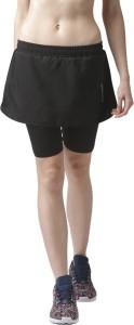 2Go Solid Women's Straight Black Skirt