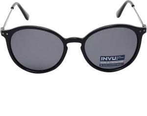 9e569a6e29184 Invu B2614A Round Sunglasses Grey Best Price in India