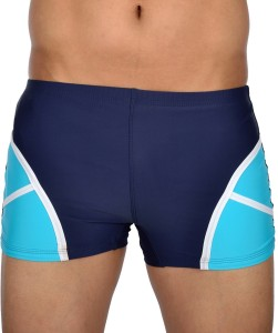 AquaChamp Swimwear - Export Quality - Navy Blue Swim Trunk for Men/Boys - 1705 Solid Men's Swimsuit