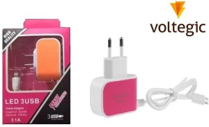 VibeX ™ 3 in 1 TRAVEL HUB WALL POWER Adapter Mobile Charger