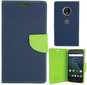 watch d9f21 54cc5 KSS Flip Cover for Motorola Moto G5 PlusBlue Green, Flip Cover