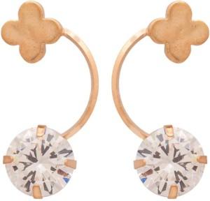 NIA for Voylla Artificial Classic Plain Cubic Zirconia Alloy Dangle Earring