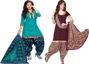 Reya Crepe Self Design Salwar Suit Dupatta Material