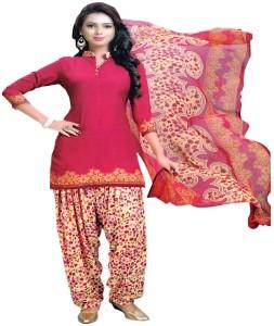 Reya Crepe Striped Salwar Suit Dupatta Material