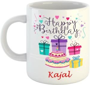 Dream Web Happy Birthday Kajal Ceramic Mug 350 Ml Best Price In