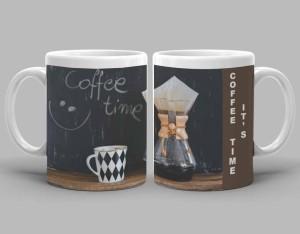Rekfiro Smiley Coffee Time Ceramic Mug