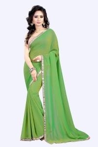 2e1a997df2 Nimi Fashion Plain Self Design Solid Bollywood Pure Georgette Saree ...