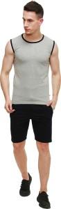 GLANZ COMFORT WEAR Solid Men's Grey, Dark Blue Bermuda Shorts, Night Shorts, Sports Shorts